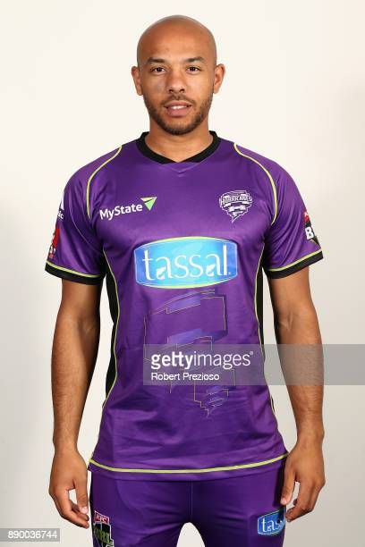 Tymal Mills poses during the Hobart Hurricanes BBL headshots session on December 9 2017 in Hobart Australia
