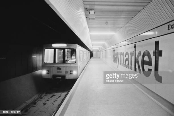 Tyne and Wear Metro at the Haymarket Metro station, Newcastle upon Tyne, UK, 14th July 1980.