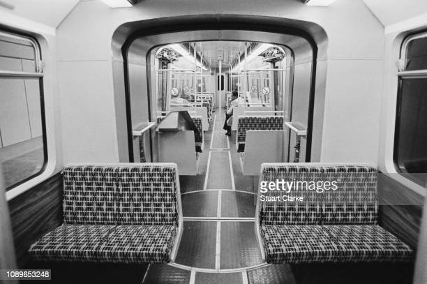 Tyne and Wear Metro train at the Haymarket Metro station, Newcastle upon Tyne, UK, 14th July 1980.