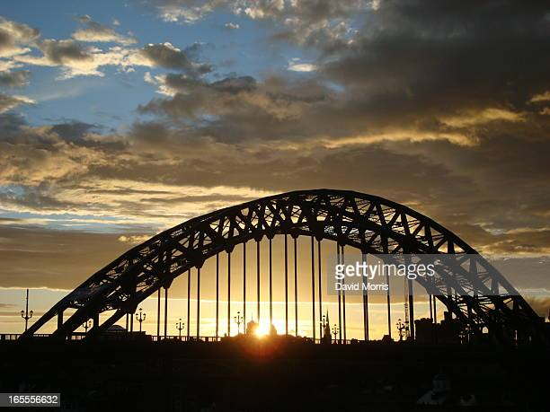 Tyne bridge - a through arch road bridge at dusk, Newcastle upon Tyne
