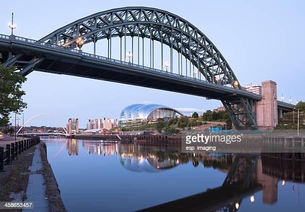 tyne bridge newcastle and sage gateshead - newcastle upon tyne stock pictures, royalty-free photos & images