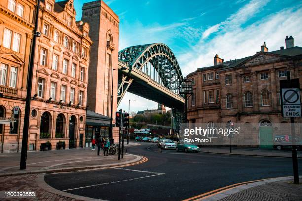 tyne bridge - newcastle upon tyne - newcastle upon tyne stock pictures, royalty-free photos & images