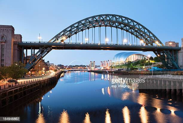 Tyne Bridge over River between Newcastle and Gateshead