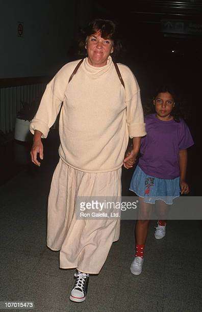 Tyne Daly and daughter Alyxandra during Tyne Daly and daughter Alyxandra sighted at Los Angeles International Airport April 17 1993 at Los Angeles...
