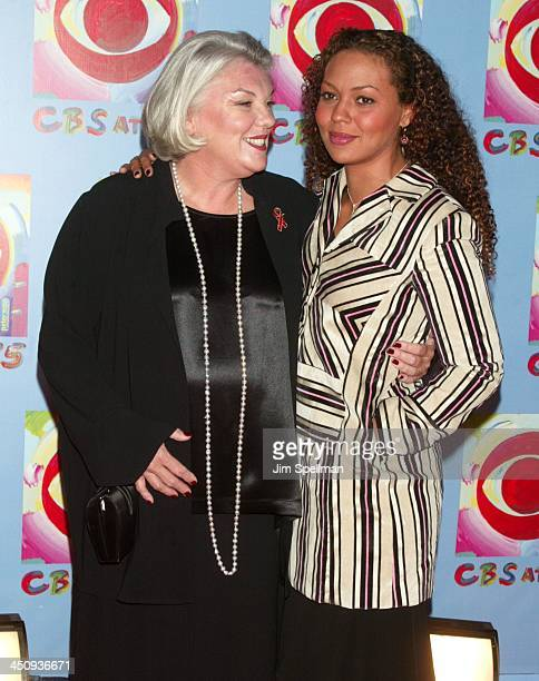 Tyne Daly and daughter during CBS at 75 at Hammerstein Ballroom in New York City New York United States