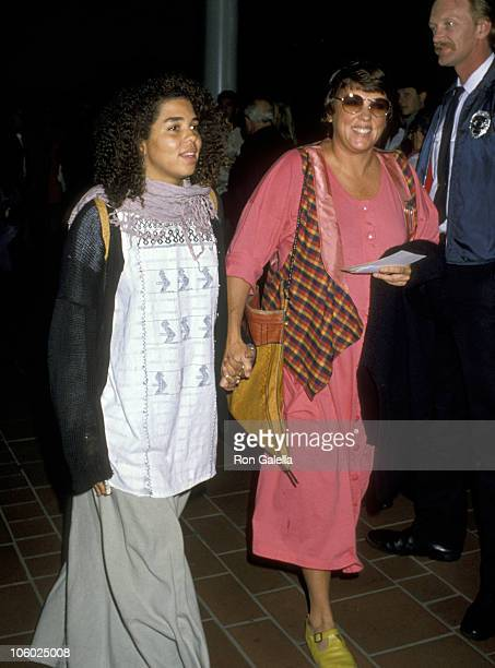 Tyne Daly and Daughter during Premiere of Bird October 13 1988 at AMC14 Theater in Los Angeles California United States