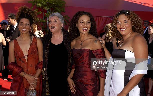 Tyne Daly and daughters during The 54th Annual Primetime Emmy Awards Arrivals at The Shrine Auditorium in Los Angeles California United States