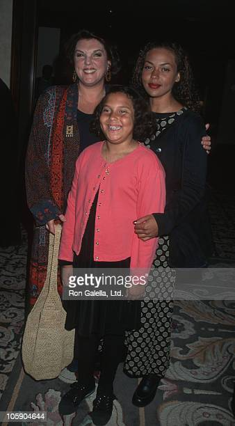 Tyne Daly and daughters Kathryne and Alyxandra during 30th Anniversary of the Music Center Honoring the Bergman Family at Century Plaza Hotel in...