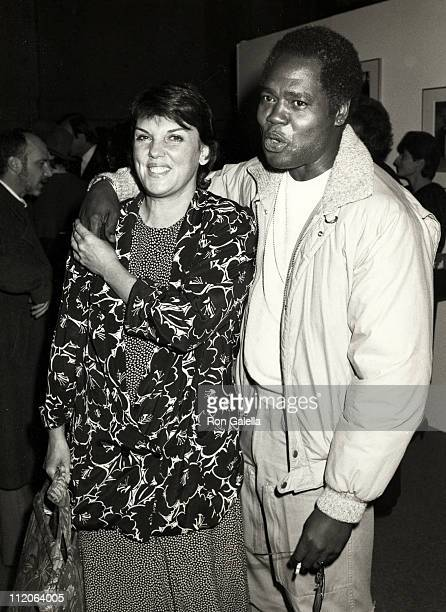Tyne Daly and Georg Stanford Brown during Hard Times Benefit Performance for the Homeless at LA Theater Center in Los Angeles California United States