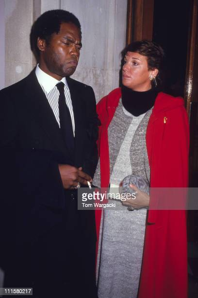 Tyne Daly and Georg Stanford Brown during Tyne Daly at Her Majesty's Theatre for the musical The Phantom of the Opera Great Britain