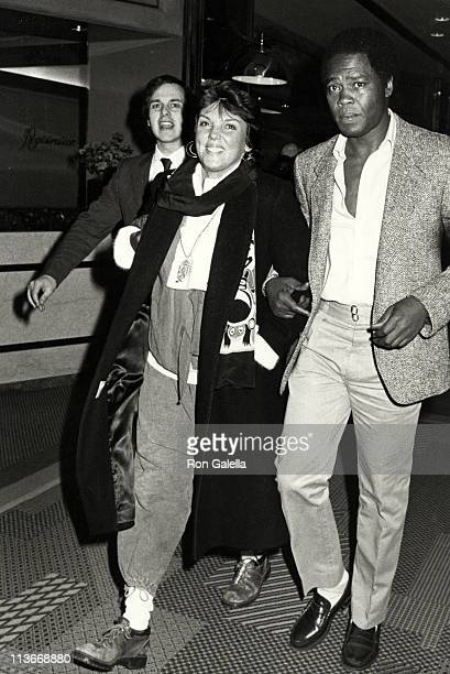 Tyne Daly and Georg Stanford Brown during Tyne Daly Sighted at New York Hilton Hotel February 16 1985 at HIlton Hotel in New York City New York...