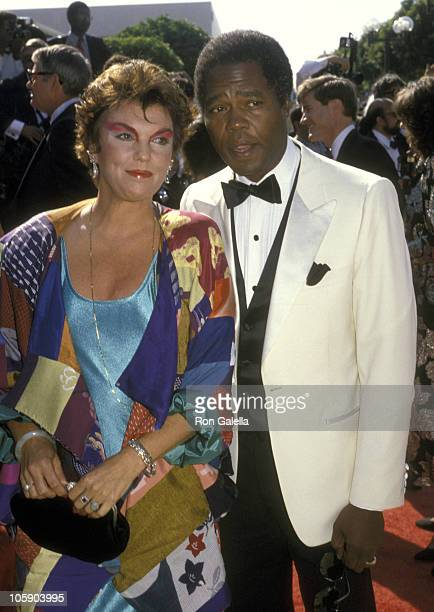Tyne Daly and husband Georg Stanford Brown during 38th Annual Primetime Emmy Awards at Pasadena Civic Auditorium in Pasadena California United States