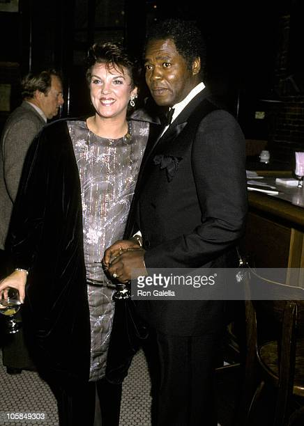 Tyne Daly and husband Georg Stanford Brown during Actor's Fund Benefit at Gingerman Restaurant in New York City New York United States