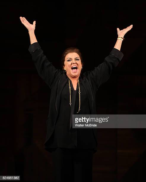 Tyne Daly as Maria Callas at the Opening Night Performance Curtain Call for The Manhattan Theatre Club's 'Master Class' at the Samuel J Friedman...