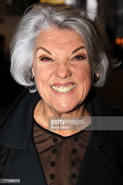 Tyne Daly poses at The Opening Night of Bengal Tiger at the Baghdad Zoo on Broadway at Richard Rodgers Theatre on March 31 2011 in New York City