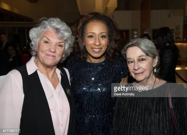Tyne Daly, Tamara Tunie, Zoe Caldwell attends League Of Professional Theatre Women awards at The Pershing Square Signature Center on March 10, 2014...