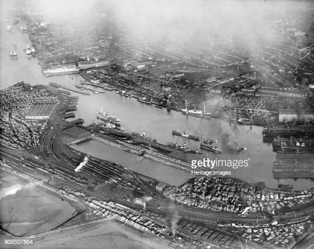 Tyne Dock South Shields South Tyneside 1927 Artist Aerofilms