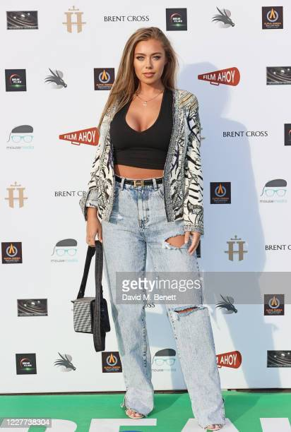 """Tyne Lexy Clarson attends the Drive-In World Premiere of """"Break"""" at Brent Cross Shopping Centre on July 22, 2020 in London, England."""