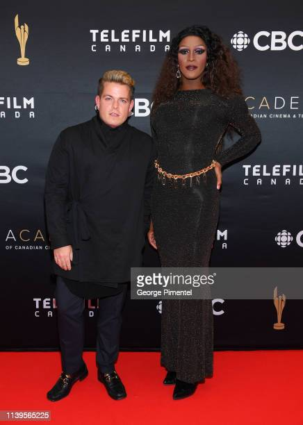 Tynomi Banks and Marc Andrew Smith attend the 2019 Canadian Screen Awards Broadcast Gala at Sony Centre for the Performing Arts on March 31 2019 in...