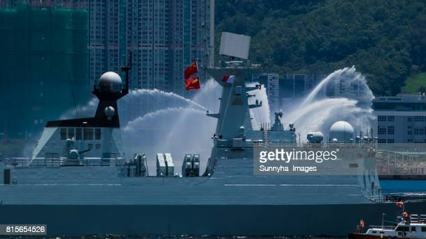 type 054a frigate (538 yantai) - chinese people's liberation army stock photos and pictures