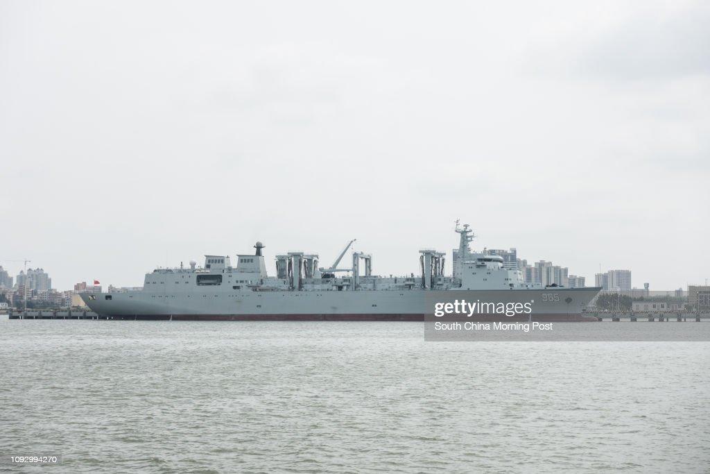 Type 901 fast combat support ship #965. 31JUL17 SCMP/ Chow Chung-yan : News Photo