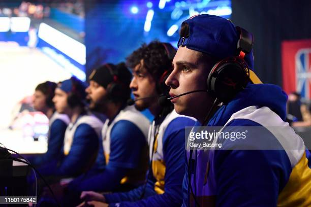 Type of Warriors Gaming Squad stares on during the game against Raptors Uprising Gaming Club during The Ticket Tournament of the NBA 2K League on...
