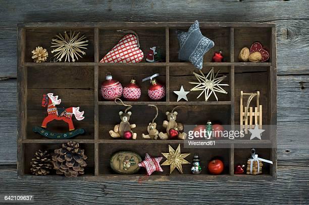 Typecase with Christmas decoration