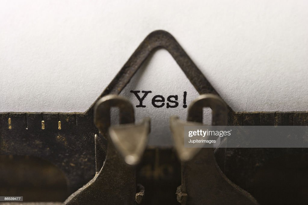 Typed word yes : Stock Photo