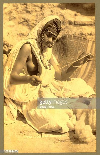 Types Algerians wool spinner Neurdein brothers 1860 1890 the Neurdein photographs of Algeria including Byzantine and Roman ruins in Tebessa and...