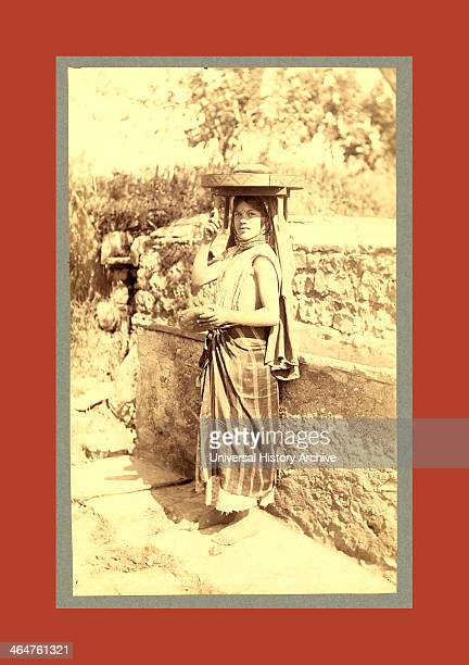 Types Algerians Young Girl Bread Market Neurdein Brothers 1860 1890 The Neurdein Photographs Of Algeria Including Byzantine And Roman Ruins In...