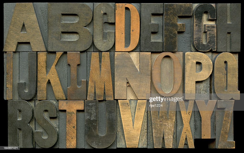 Typesetting Blocks : Stock Photo
