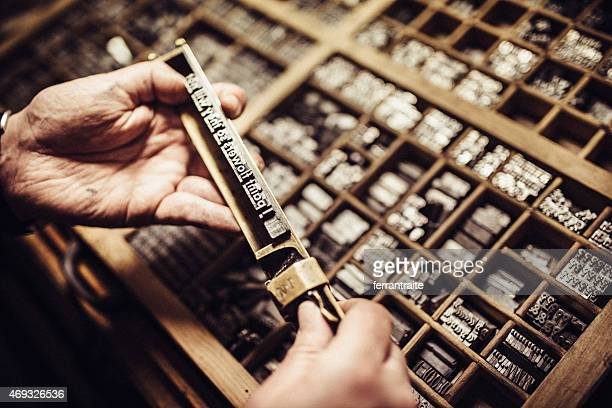 Typesetting for Letterpress Printing