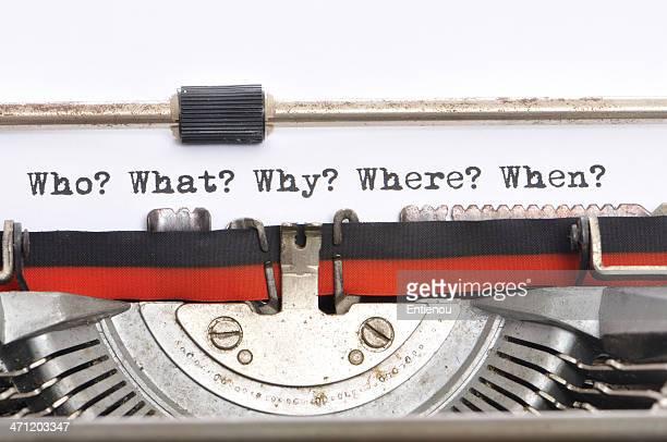Schreibmaschine - 5Ws
