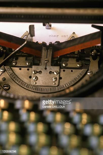 Typewriter In France In 1990 Letterhead in an old Underwood machine
