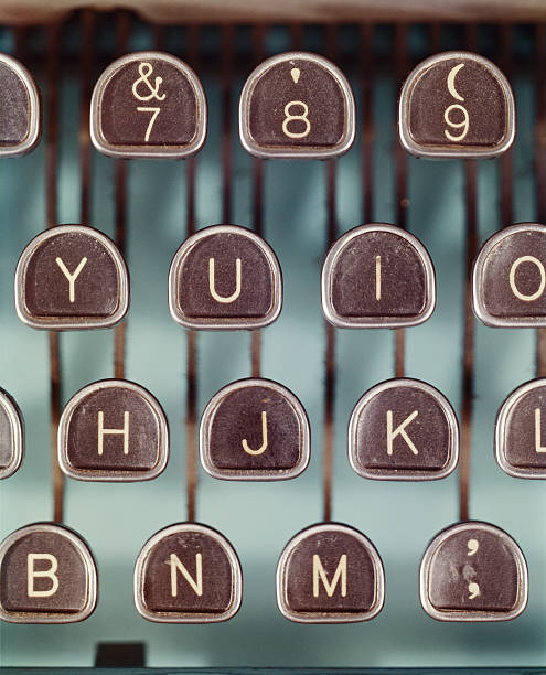 Typewriter keys, close-up
