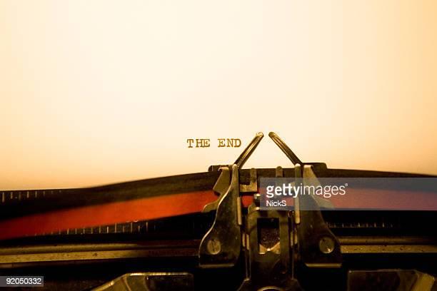 Schreibmaschine-Ende