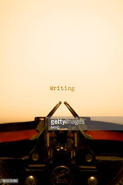 Typewriter - Writing