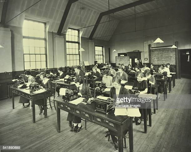 Typewriting class, Bow and Bromley Commercial Institute, Malmesbury Road, London, 1924. Artist: unknown.