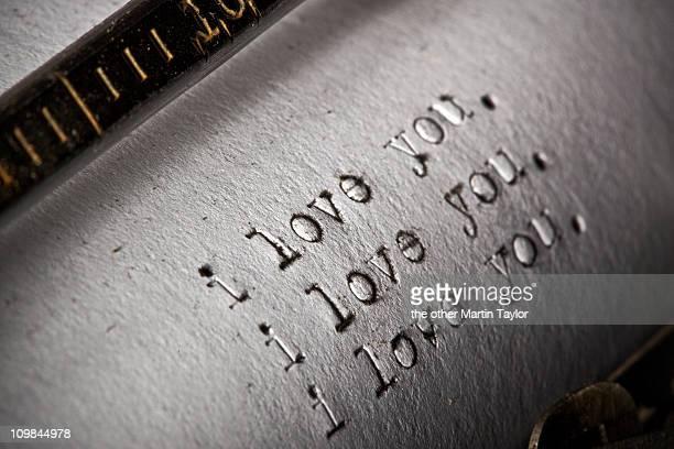 Typewritten I Love You