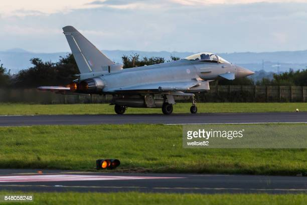 RAF Typhoon lights up the runway