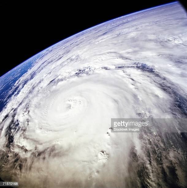 Typhoon Saomai swirls in the Pacific Ocean east of Taiwan and the Philippines.