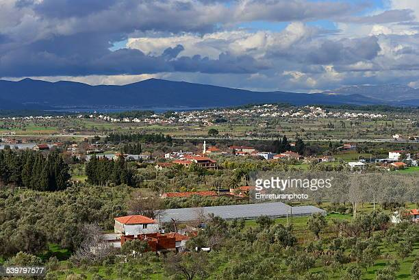 typical aegean countryside - emreturanphoto stock pictures, royalty-free photos & images