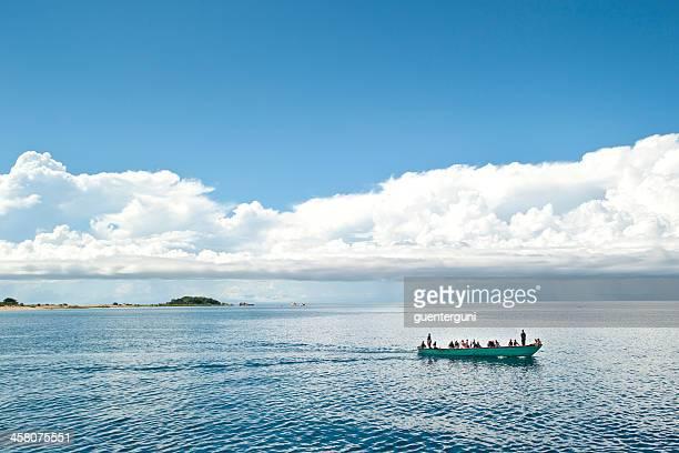 Typisch afrikanische Boot auf dem Lake Tanganyika