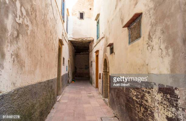 Typical alley and houses of the old town (Morocco, Essaouira)