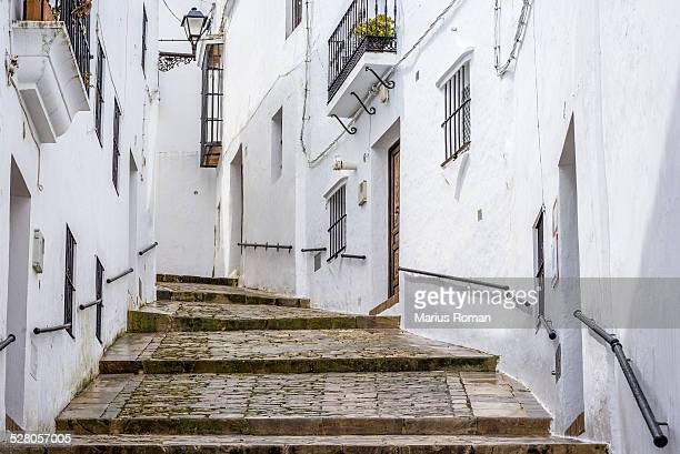 Typical andalusian street in Vejer de la Frontera.