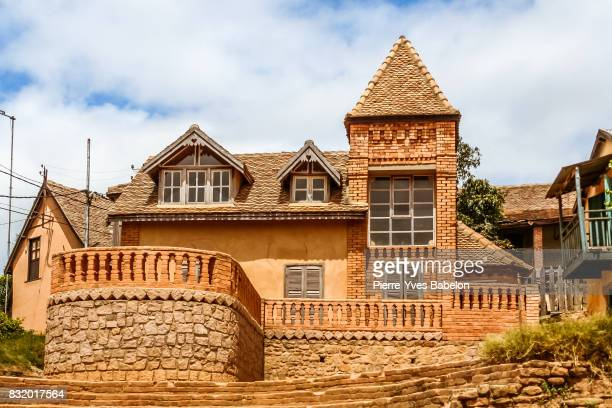 typical architecture of fianarantsoa - pierre yves babelon stock pictures, royalty-free photos & images