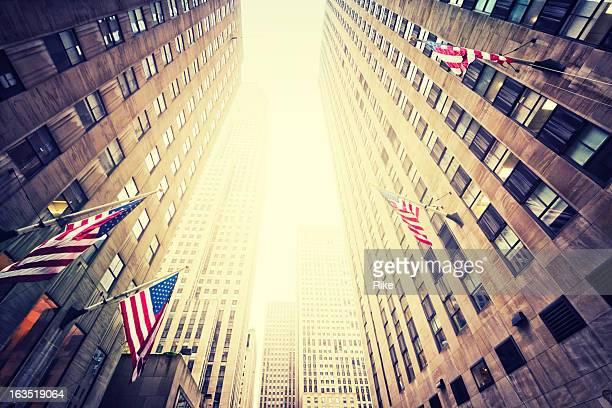 典型的な建築のニューヨーク(マンハッタン
