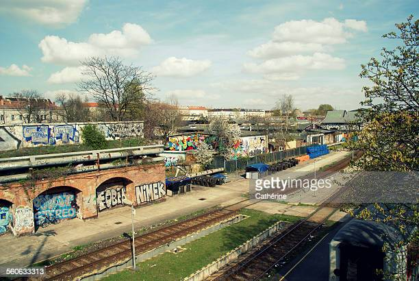 typical berlin - friedrichshain stock photos and pictures