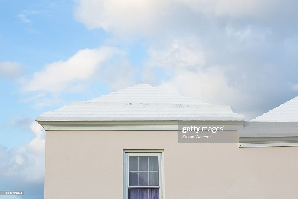 Typical Bermuda architecture and sky : Stock Photo