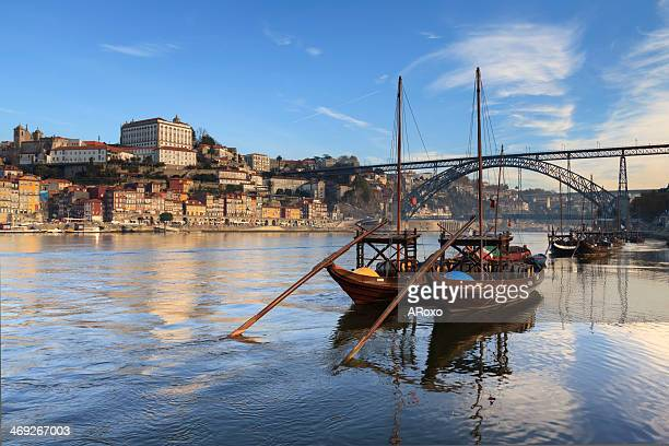 typical boats of the douro river in oporto - porto portugal stock pictures, royalty-free photos & images
